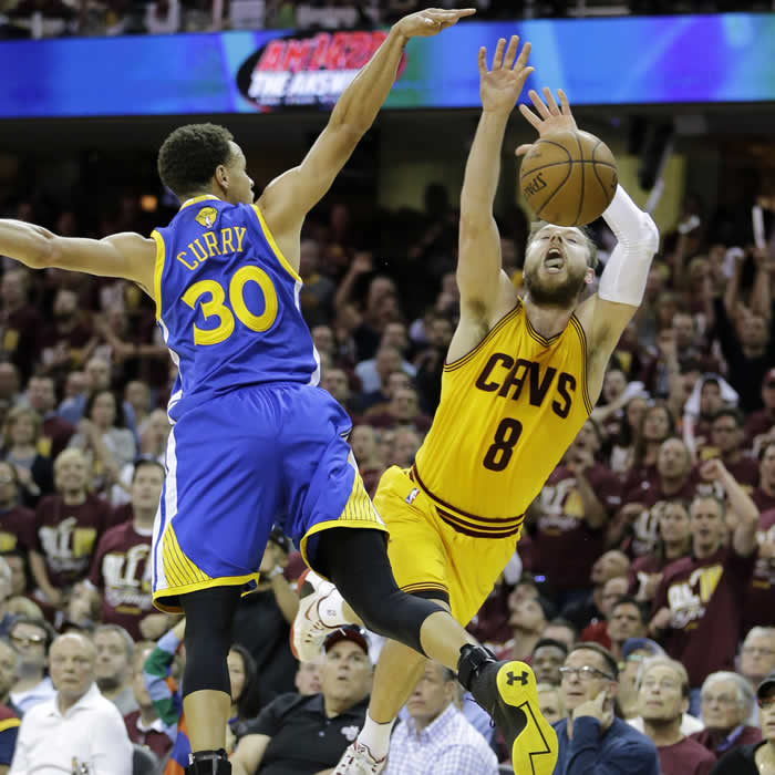 <div class='meta'><div class='origin-logo' data-origin='none'></div><span class='caption-text' data-credit=''>Warriors' Stephen Curry fouls Cavaliers'  Matthew Dellavedova as he shoots during  Game 3 of basketball's NBA Finals in Cleveland, Tuesday, June 9, 2015. (AP Photo/Tony Dejak)</span></div>