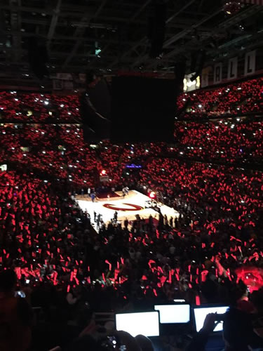 <div class='meta'><div class='origin-logo' data-origin='none'></div><span class='caption-text' data-credit='KGO-TV'>Quicken Loans Arena becomes a sea of red before  Game 3 of the NBA Finals between the Golden State Warriors and Cleveland Cavaliers in Cleveland, Ohio, June 9, 2015.</span></div>