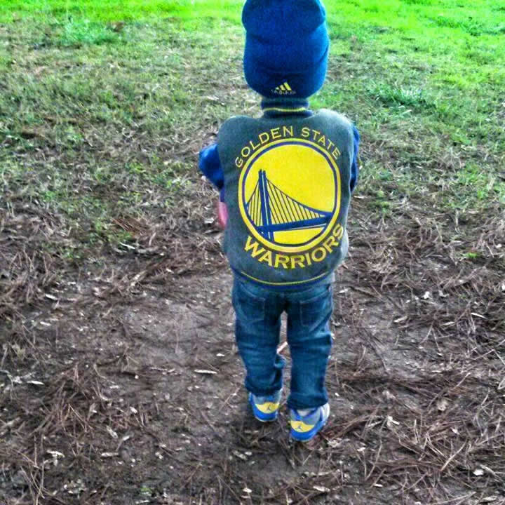 <div class='meta'><div class='origin-logo' data-origin='none'></div><span class='caption-text' data-credit='Photo submitted to KGO-TV by Sunny L./uReport'>Four-year-old Dominic from Santa Rosa, Calif. is a big Warriors fan. Tag your photos on Facebook, Twitter, Google Plus or Instagram using #DubsOn7.</span></div>