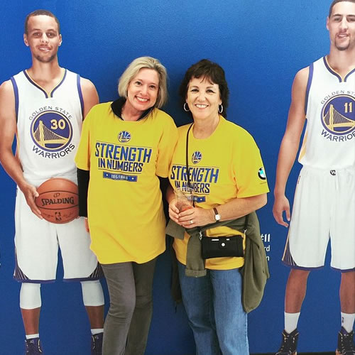 <div class='meta'><div class='origin-logo' data-origin='none'></div><span class='caption-text' data-credit='Photo submitted to KGO-TV by msleslihale/Instagram'>These fans are spending some time with the Splash Brothers! Tag your photos on Facebook, Twitter, Google Plus or Instagram using #DubsOn7.</span></div>