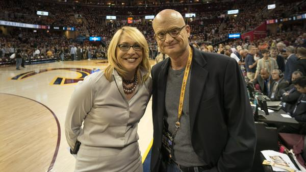 <div class='meta'><div class='origin-logo' data-origin='none'></div><span class='caption-text' data-credit='KGO-TV'>ABC7 News reporter Wayne Freedman was thrilled to meet ESPN reporter Doris Burke on Tuesday, June 9, 2015 in Cleveland, Ohio.</span></div>