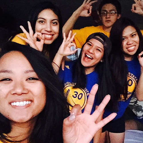 <div class='meta'><div class='origin-logo' data-origin='none'></div><span class='caption-text' data-credit='Photo submitted to KGO-TV by ferrazcamille/Instagram'>These Dubs fans are celebrating the Warriors' big win! Tag your photos on Facebook, Twitter, Google Plus or Instagram using #DubsOn7.</span></div>