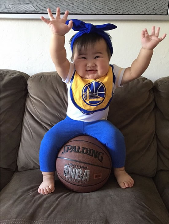 <div class='meta'><div class='origin-logo' data-origin='none'></div><span class='caption-text' data-credit='Photo submitted to KGO-TV by kiksdizon/Instagram'>This little Warriors fan is celebrating the big Game 4 win! Tag your photos on Facebook, Twitter, Google Plus or Instagram using #DubsOn7.</span></div>