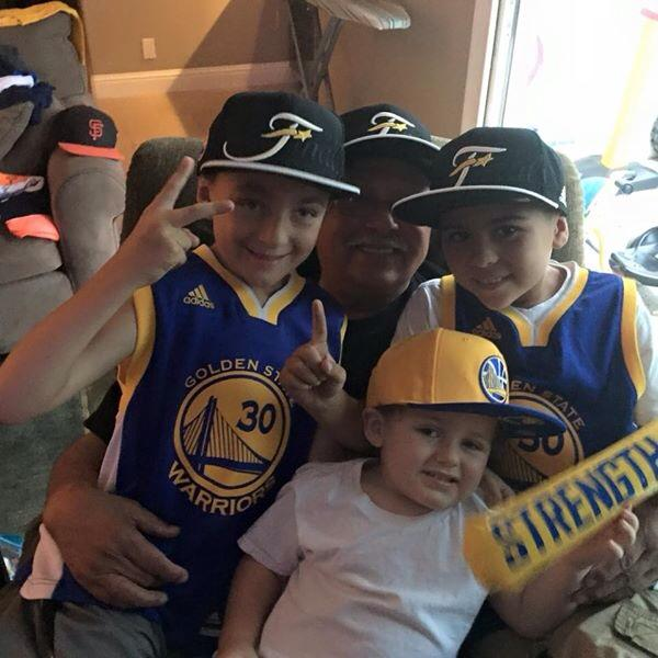 <div class='meta'><div class='origin-logo' data-origin='none'></div><span class='caption-text' data-credit='Photo submitted to KGO-TV by Carla Gudino/Facebook'>The Gudino family is showing #StrengthInNumbers! Tag your photos on Facebook, Twitter, Google Plus or Instagram using #DubsOn7.</span></div>