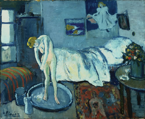 This undated handout image provided by The Phillips Collection shows Picasso's The Blue Room, painted in 1901. (AP Photo/The Phillips Collection)