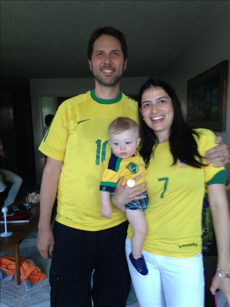 This family loves Brazil! World Cup celebrations are happening all around the Bay Area. Send your photos to uReport@kgo-tv.com! <span class=meta>photo submitted by Tobin Umland via uReport</span>