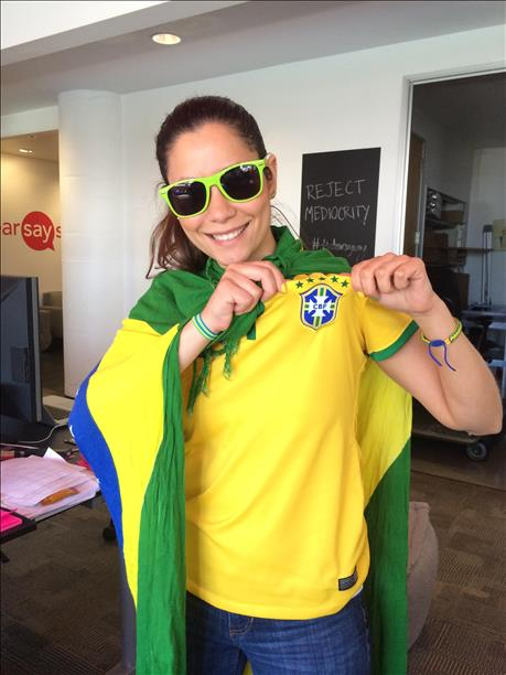 Brazil! World Cup celebrations are happening all around the Bay Area. Send your photos to uReport@kgo-tv.com! <span class=meta>photo submitted via uReport</span>