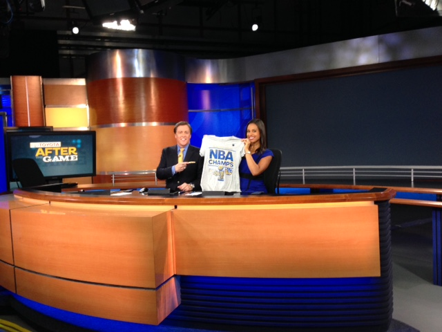 <div class='meta'><div class='origin-logo' data-origin='none'></div><span class='caption-text' data-credit='KGO-TV'>ABC7 anchors Dan Ashley and Ama Daetz celebrate the Warriors NBA championship, Wednesday, June 16, 2015.</span></div>