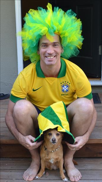 Cleo and Fiji rooting for Brasil! World Cup celebrations are happening all around the Bay Area.  Send your photos to uReport@kgo-tv.com <span class=meta>photo submitted by Cadja Wouters via uReport</span>