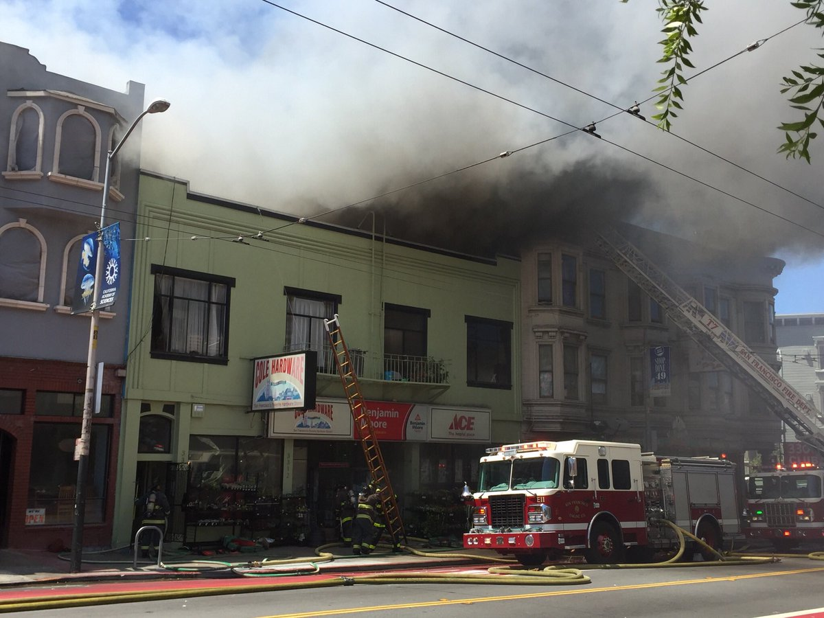<div class='meta'><div class='origin-logo' data-origin='none'></div><span class='caption-text' data-credit='SF Firefighters 798'>San Francisco firefighters are battling a 4-alarm fire on the 3300 block of Mission St. in Bernal Heights.</span></div>