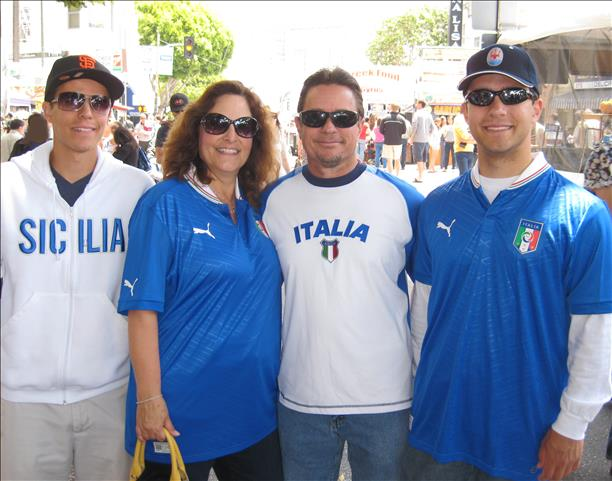 Family represents Team Italia in SF's Northbeach district!  World Cup celebrations are happening all around the Bay Area.  Send your photos to uReport@kgo-tv.com <span class=meta>photo submitted by Robert David via uReport</span>