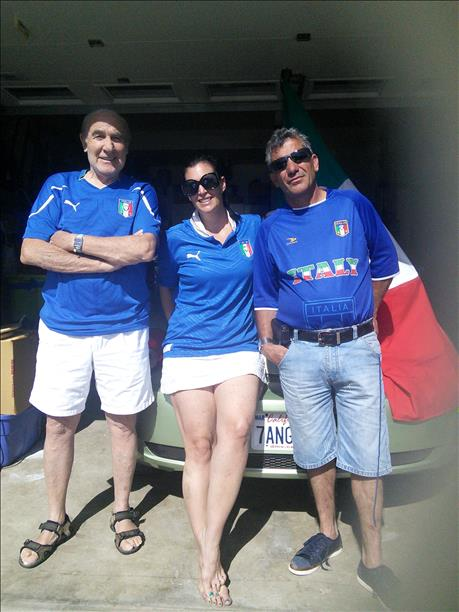 Family from Cloverdale is rooting for Italy!  World Cup celebrations are happening everywhere.  Send your photos to uReport@kgo-tv.com <span class=meta>photo submitted by Gianfranco Ziviani via uReport</span>