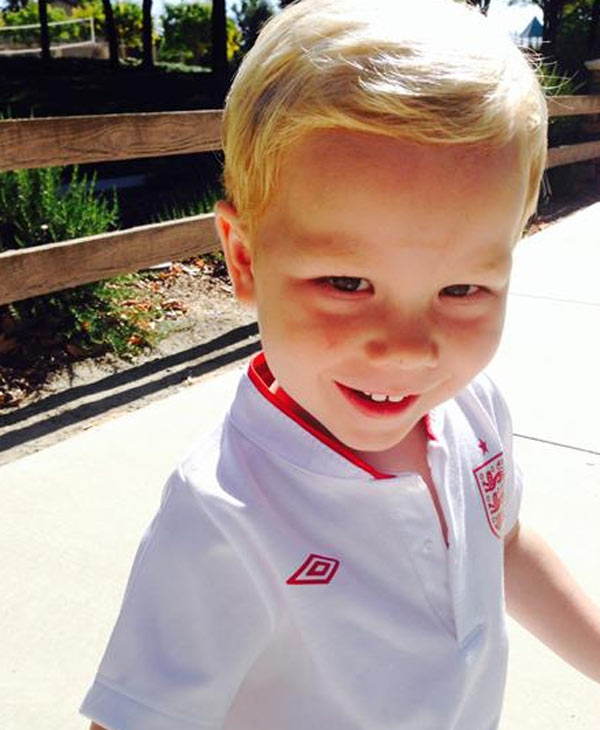 Christian, age 2, all kitted out in his England soccer kit. Send your photos to uReport@kgo-tv.com. <span class=meta></span>