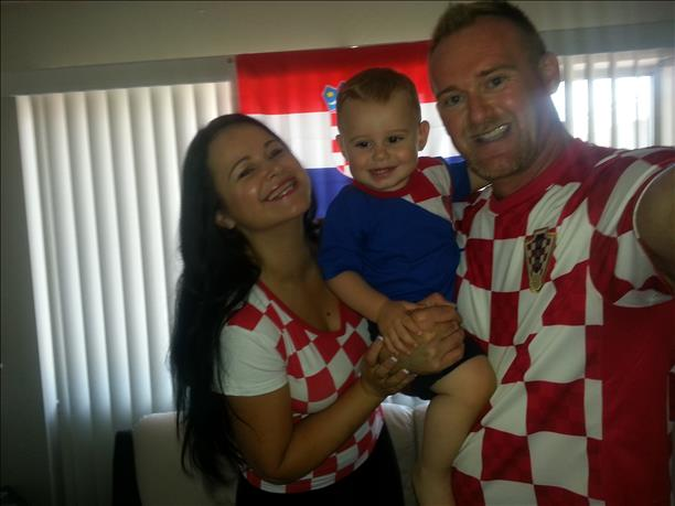Kristina, Filip and Goran root for Croatia!  Keep sending in your World Cup fan photos! <span class=meta>photo submitted by Goran via uReport</span>