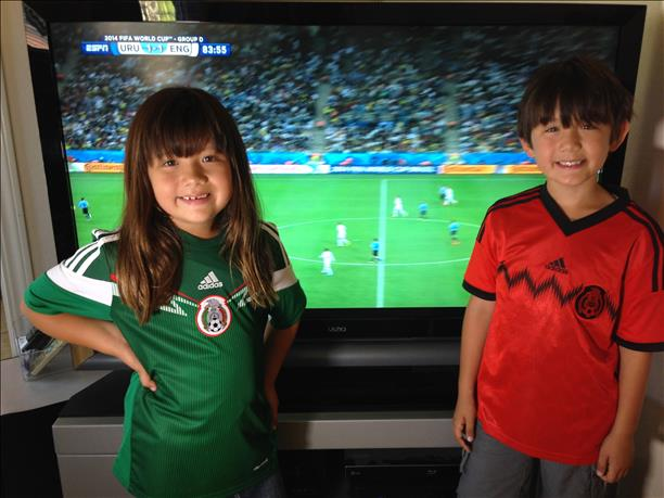 Team Mexico!  Keep sending in your World Cup fan photos! <span class=meta>photo submitted by Vangie Fuhrman via uReport</span>