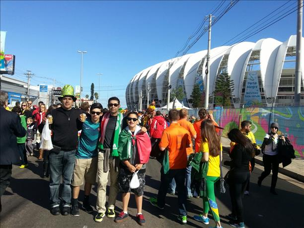 <div class='meta'><div class='origin-logo' data-origin='none'></div><span class='caption-text' data-credit='photo submitted via uReport'>From San Francisco to Brazil...keep sending in your World Cup fan photos!</span></div>