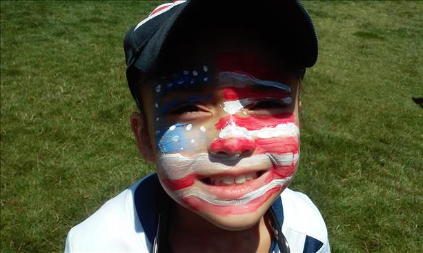 <div class='meta'><div class='origin-logo' data-origin='none'></div><span class='caption-text' data-credit='photo submitted by Jesenia Stewart via uReport'>Team USA all the way!  Keep sending in your World Cup fan photos!</span></div>