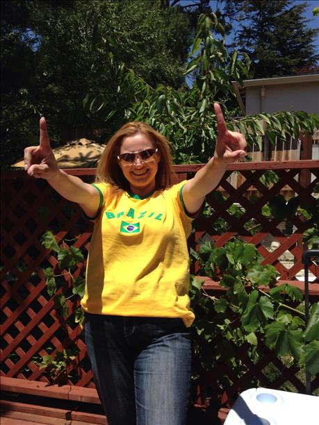 Brazil fan from Pinole!  Keep sending in your World Cup fan photos! <span class=meta>photo submitted by duartel via uReport</span>