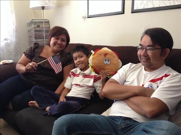 Family watches the USA vs. Portugal game.  Keep sending in your World Cup fan photos! <span class=meta>(photo submitted via uReport)</span>