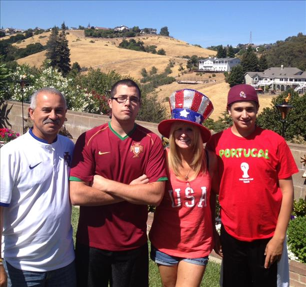 "<div class=""meta ""><span class=""caption-text "">Goulart family from Castro Valley cheers on Portugal!  Keep sending in your World Cup fan photos! (photo submitted by Sandi Goulart via uReport)</span></div>"