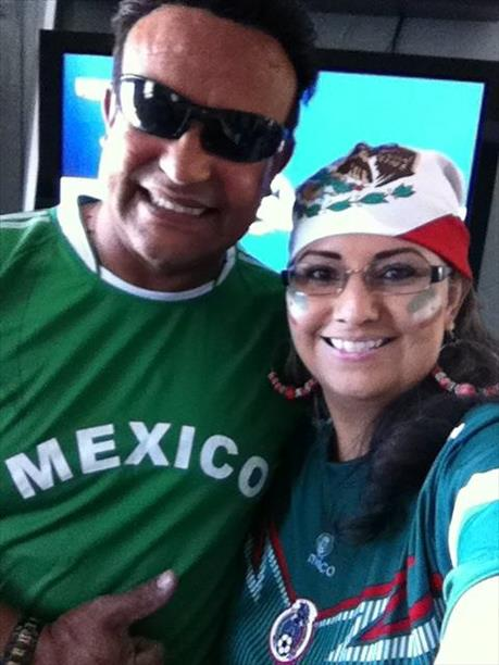 Celebrating Mexico win vs Croatia!  Keep sending in your World Cup fan photos! <span class=meta>(photo submitted by Josefina Lozano via uReport)</span>