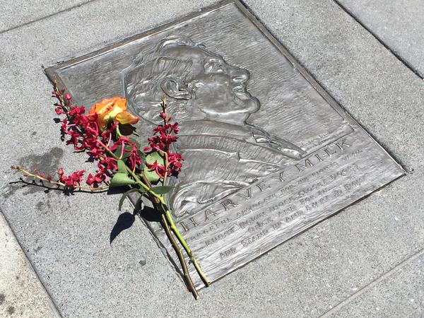"""<div class=""""meta image-caption""""><div class=""""origin-logo origin-image none""""><span>none</span></div><span class=""""caption-text"""">Flowers were laid in front of the Harvey Milk Foundation in San Francisco in celebration of the historic SCOTUS same-sex marriage ruling on Friday, June 26, 2015. (KGO-TV)</span></div>"""