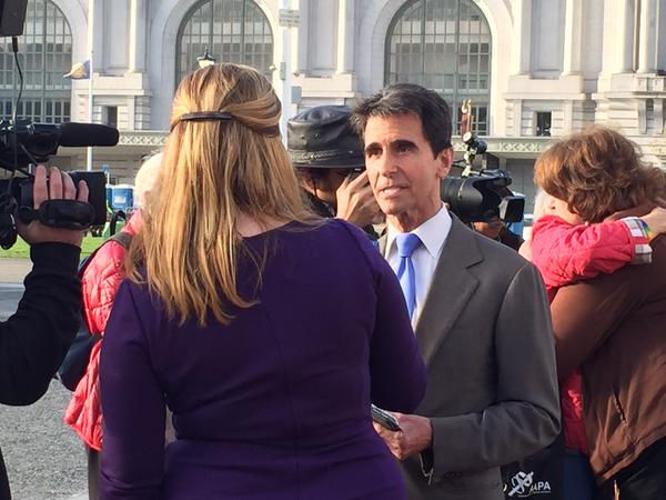 """<div class=""""meta image-caption""""><div class=""""origin-logo origin-image none""""><span>none</span></div><span class=""""caption-text"""">State Senator Mark Leno said, """"It's a great day for America,"""" following the Supreme Court's same sex ruling on Friday, June 26, 2015 in San Francisco. (KGO-TV)</span></div>"""