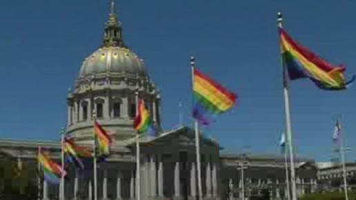 "<div class=""meta image-caption""><div class=""origin-logo origin-image none""><span>none</span></div><span class=""caption-text"">Pride flags fly at San Francisco's City Hall to celebrate SCOTUS' same sex marriage decision on Friday, June 26, 2015. (KGO-TV)</span></div>"