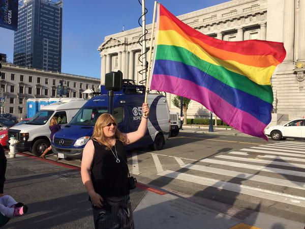 """<div class=""""meta image-caption""""><div class=""""origin-logo origin-image none""""><span>none</span></div><span class=""""caption-text"""">There is elation at San Francisco's City Hall following SCOTUS ruling on same sex marriage on Friday, June 26, 2015. (KGO-TV)</span></div>"""