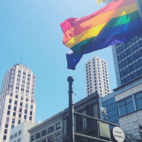 <div class='meta'><div class='origin-logo' data-origin='none'></div><span class='caption-text' data-credit='Photo submitted to KGO-TV by cindychelsea/Instagram'>The Pride flag is flying high in San Francisco on Saturday, June 27, 2015. Tag your pride pics #abc7now.</span></div>