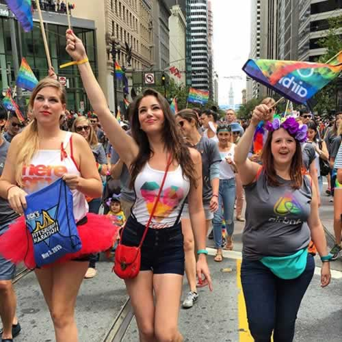 <div class='meta'><div class='origin-logo' data-origin='none'></div><span class='caption-text' data-credit='Photo submitted to KGO-TV by sfcitygirl88/Instagram'>Thousands gather for the 45th annual Pride Parade and celebration in San Francisco on Sunday, June 28, 2015. Tag your pics on Facebook, Twitter and Instagram using #abc7now.</span></div>