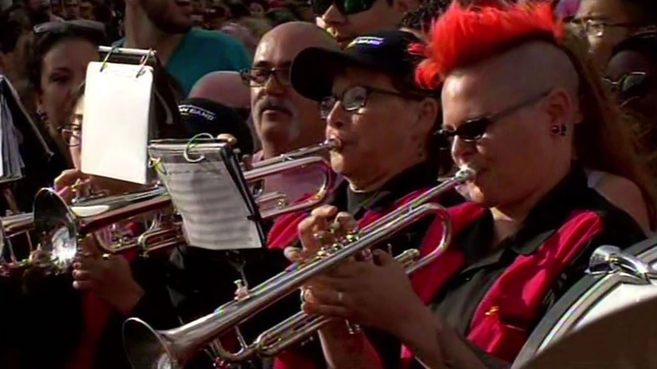 <div class='meta'><div class='origin-logo' data-origin='none'></div><span class='caption-text' data-credit='KGO-TV'>Thousands flock to San Francisco for the 45th annual Pride celebration on Saturday, June 27, 2015.</span></div>