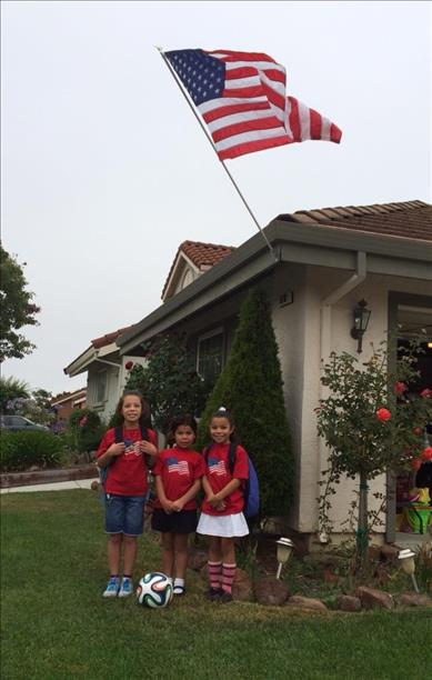 <div class='meta'><div class='origin-logo' data-origin='none'></div><span class='caption-text' data-credit='photo submitted via uReport'>Team USA all the way!  Keep sending in your World Cup fan photos!</span></div>