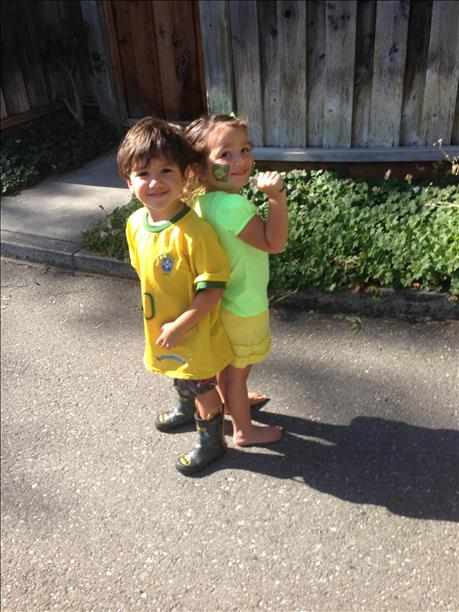 Davi and Sophia are ready for the World Cup!  Keep sending in your World Cup fan photos! <span class=meta>(photo submitted by Barbara Simas via uReport)</span>