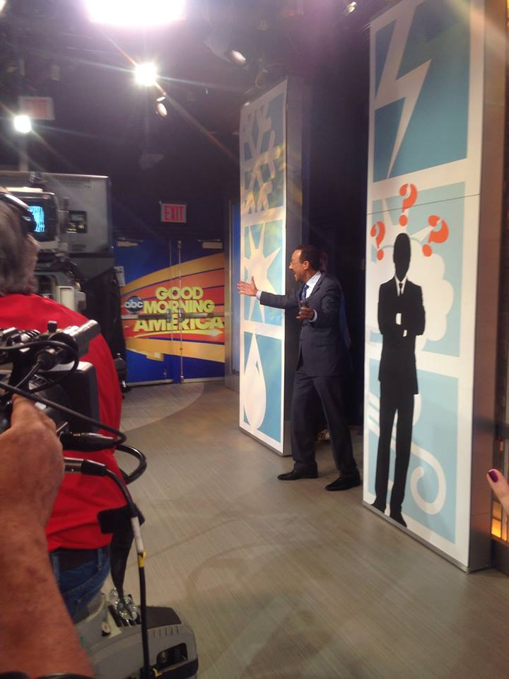 Behind the scenes as ABC7&#39;s Spencer Christian makes a guest appearance on GMA in New York. <span class=meta>(Photo courtesy of Days With Zahrah via Facebook)</span>