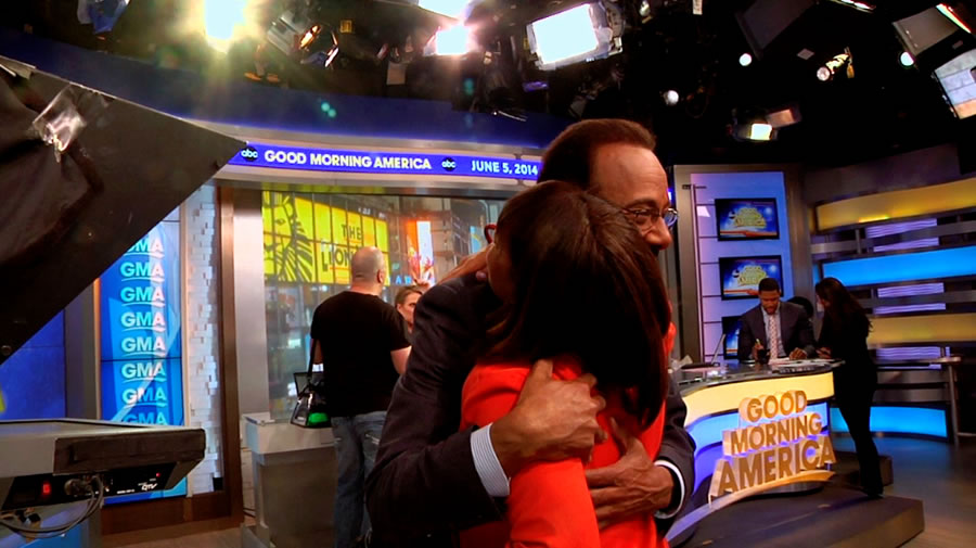 "<div class=""meta ""><span class=""caption-text "">Behind the scenes as ABC7's Spencer Christian makes a guest appearance on GMA in New York. (Photo courtesy of Days With Zahrah host, Zahrah Farmer)</span></div>"
