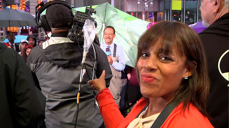 Behind the scenes as ABC7&#39;s Spencer Christian makes a guest appearance on GMA in New York.  <span class=meta>(Photo courtesy of Days With Zahrah host, Zahrah Farmer )</span>