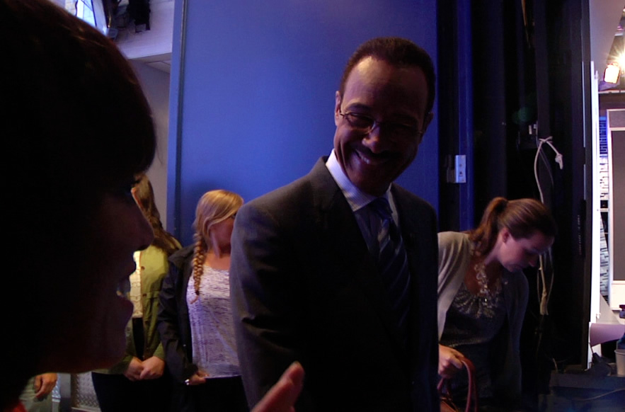 Behind the scenes as ABC7&#39;s Spencer Christian makes a guest appearance on GMA in New York. <span class=meta>(Photo courtesy of Days With Zahrah host, Zahrah Farmer)</span>