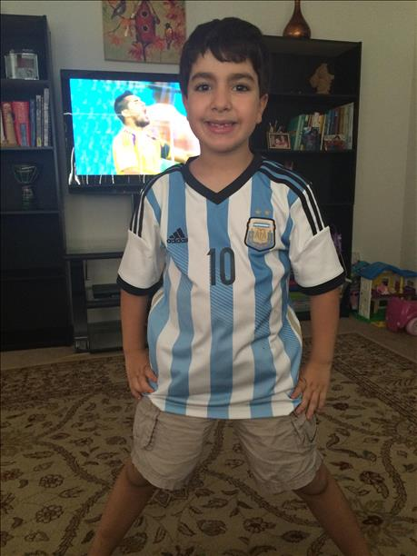 Aylan is a huge fan of Argentina! Keep sending in your World Cup fan photos! <span class=meta>(photo submitted via uReport)</span>