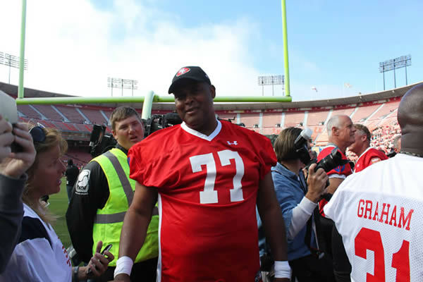 "<div class=""meta ""><span class=""caption-text "">49ers legends play final game at Candlestick Park.  Behind the scenes photos taken by our ABC7 News Fan Reporter! (KGO Photo/ Bernard Galang)</span></div>"