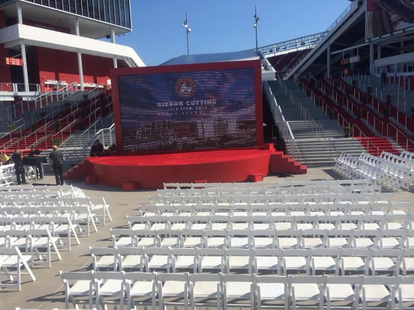 Levi&#39;s Stadium is ready to open.  Photo taken on ribbon cutting day. <span class=meta>(ABC7 News Reporter, Amy Hollyfield)</span>