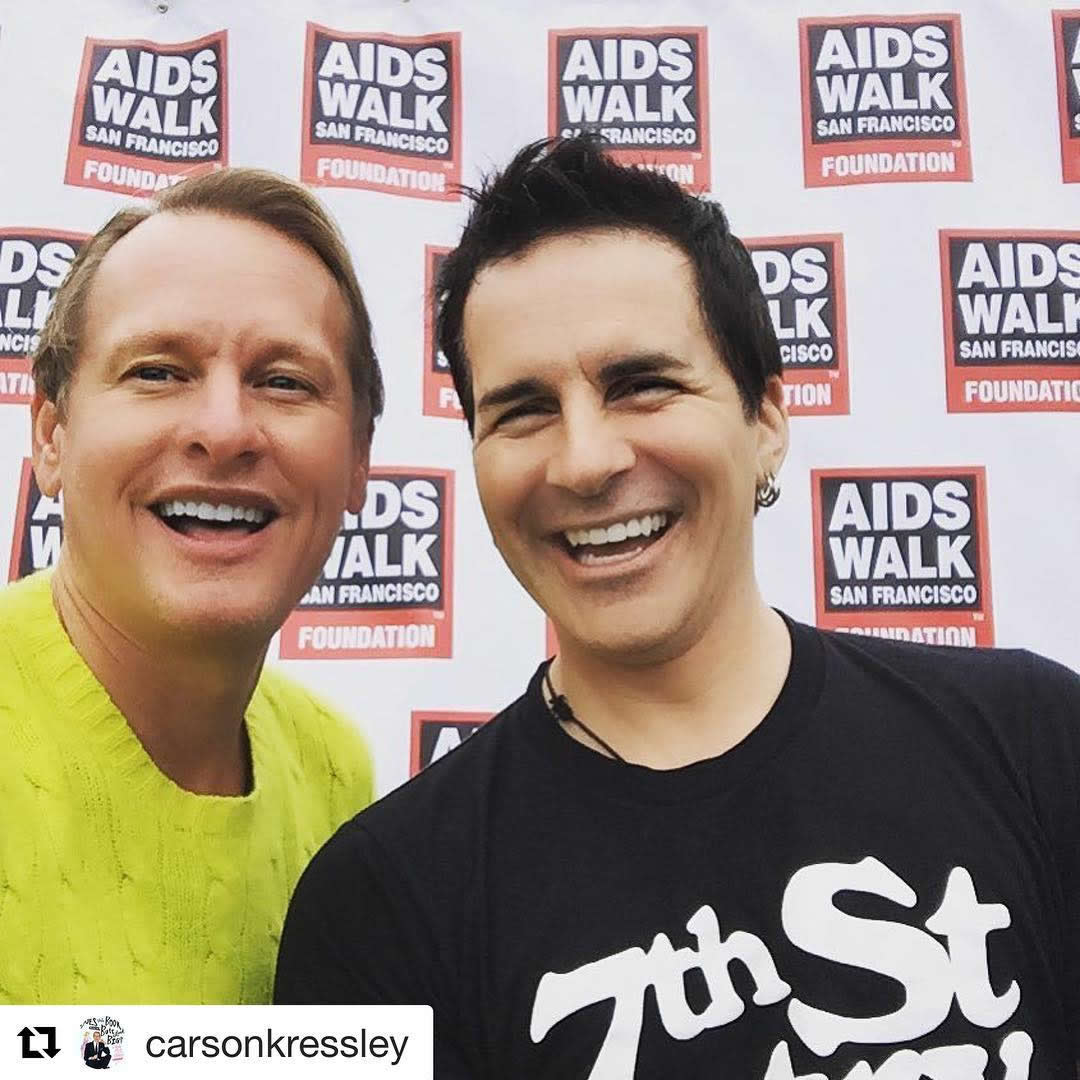 <div class='meta'><div class='origin-logo' data-origin='none'></div><span class='caption-text' data-credit='AIDS Walk San Francisco'>Carson Kressley and Hal Sparks at AIDS Walk San Francisco on Sunday, July 17, 2016.</span></div>