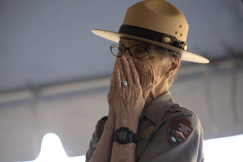 "<div class=""meta image-caption""><div class=""origin-logo origin-image none""><span>none</span></div><span class=""caption-text"">The National Park Service's oldest park ranger, Betty Reid Soskin, received a new presidential coin on July 17, 2016 at the Concord Naval Weapon Station in Concord, Calif. (East Bay Regional Park District )</span></div>"