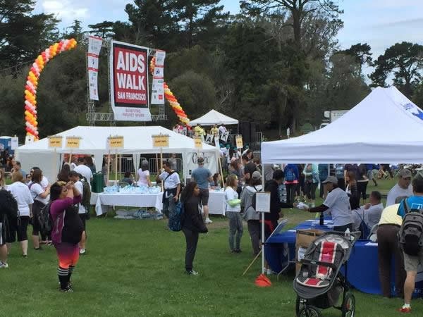 <div class='meta'><div class='origin-logo' data-origin='none'></div><span class='caption-text' data-credit='KGO-TV'>Volunteers and walkers are gearing up for AIDS Walk San Francisco in Golden Gate Park on Sunday, July 19, 2015.</span></div>