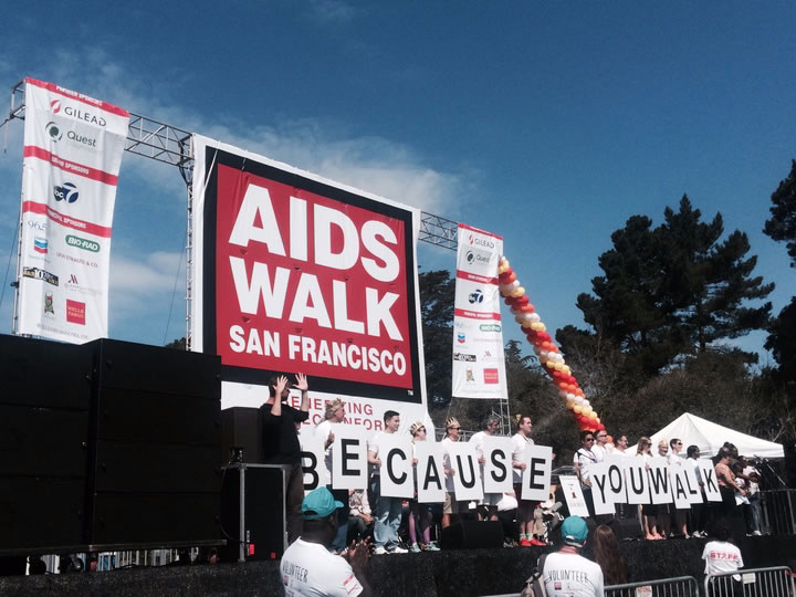 <div class='meta'><div class='origin-logo' data-origin='none'></div><span class='caption-text' data-credit='KGO-TV'>Thousands of people came out to AIDS Walk San Francisco in Golden Gate Park on Sunday, July 19, 2015. Tag your pics #abc7now.</span></div>