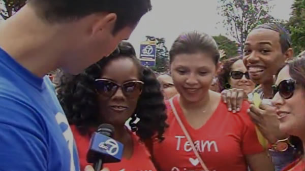 <div class='meta'><div class='origin-logo' data-origin='none'></div><span class='caption-text' data-credit='KGO-TV'>ABC7 Meteorologist Drew Tuma is in the middle of all the action at AIDS Walk San Francisco in Golden Gate Park on Sunday, July 19, 2015.</span></div>