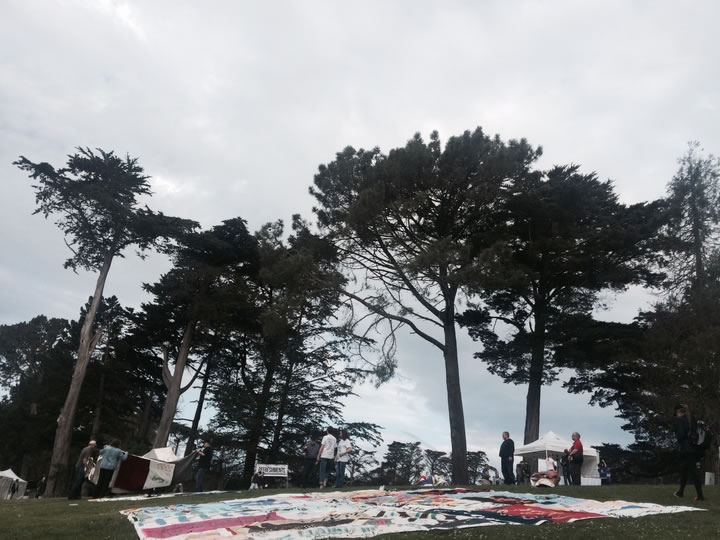 <div class='meta'><div class='origin-logo' data-origin='none'></div><span class='caption-text' data-credit='KGO-TV'>AIDSQuilt sets up panels at Golden Gate Park for AIDS Walk San Francisco on Sunday, July 19, 2015 in memory of those lost to HIV/AIDS.</span></div>