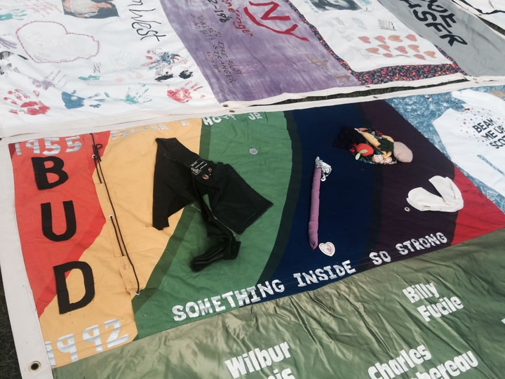 <div class='meta'><div class='origin-logo' data-origin='none'></div><span class='caption-text' data-credit='KGO-TV'>AIDSQuilt sets up panels in memory of those lost to HIV/AIDS at Golden Gate Park for AIDS Walk San Francisco on Sunday, July 19, 2015.</span></div>