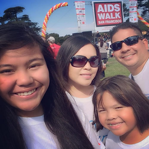 <div class='meta'><div class='origin-logo' data-origin='none'></div><span class='caption-text' data-credit='Photo submitted to KGO-TV by Lynn R/Instagram'>Lynn R says the AIDS Walk San Francisco on Sunday, July 19, 2015 was easy compared to the fight against AIDS.</span></div>
