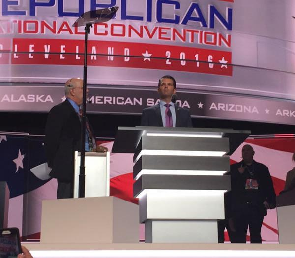 <div class='meta'><div class='origin-logo' data-origin='none'></div><span class='caption-text' data-credit='KGO-TV'>Speakers are seen on stage at the Republican National Convention on Tuesday, July 19, 2016.</span></div>
